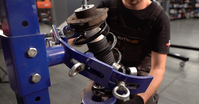 How to change Shock Absorber on Golf 5 2003 - free PDF and video manuals