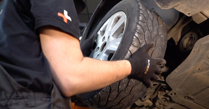 How to remove VW GOLF 2.0 TDI 16V 2007 Shock Absorber - online easy-to-follow instructions