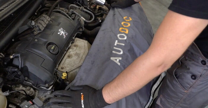 How to replace PEUGEOT 207 (WA_, WC_) 1.4 HDi 2007 Air Filter - step-by-step manuals and video guides