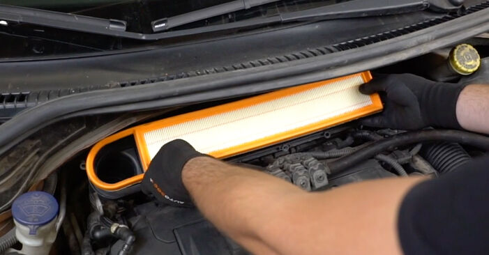 Changing of Air Filter on PEUGEOT 207 (WA_, WC_) 2014 won't be an issue if you follow this illustrated step-by-step guide