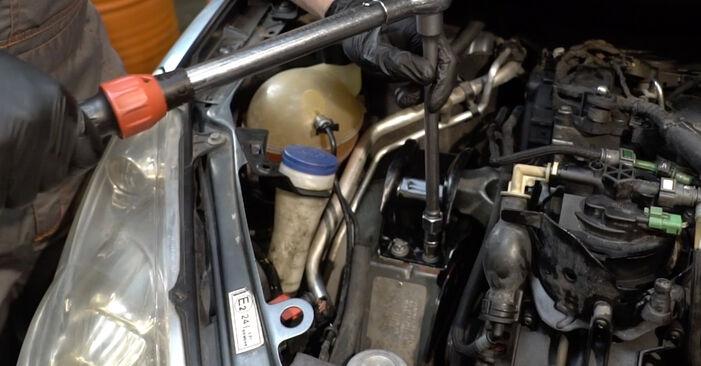 Peugeot 307 SW 1.6 16V 2002 Motorophæng udskiftning: gratis værksteds manualer