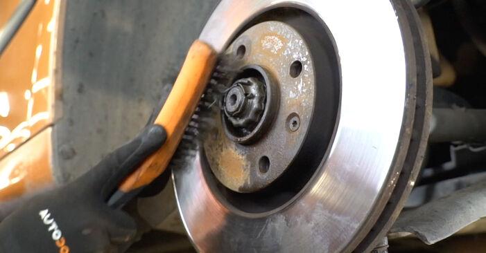 Stufenweiser Leitfaden zum Teilewechsel in Eigenregie von PEUGEOT 207 (WA_, WC_) 2009 1.6 16V VTi Bremsscheiben