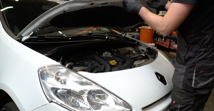Hvordan man udskifter Vandpumpe + Tandremssæt på Renault Clio 3 2005 - gratis PDF og video manualer