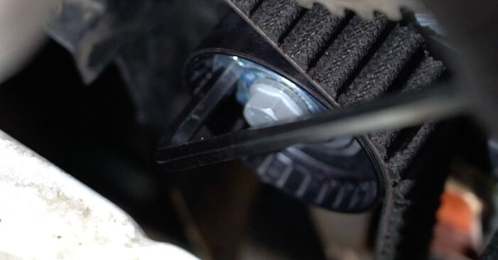 Hvordan man udskifter Vandpumpe + Tandremssæt på RENAULT Clio III Hatchback (BR0/1, CR0/1) 2010: hent PDF manualer og video instruktioner