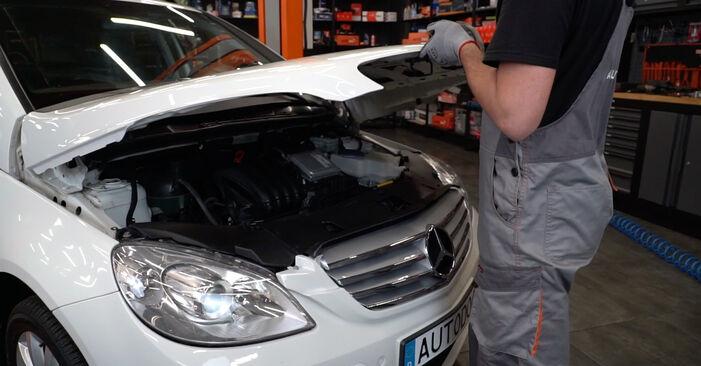 Wie Stoßdämpfer Mercedes W245 B 180 CDI 2.0 (245.207) 2004 tauschen - Kostenlose PDF- und Videoanleitungen