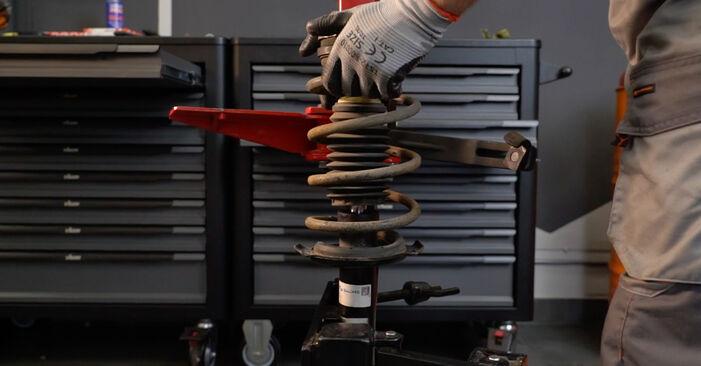 Stoßdämpfer am MERCEDES-BENZ B-Klasse (W245) B 200 2.0 Turbo (245.234) 2009 wechseln – Laden Sie sich PDF-Handbücher und Videoanleitungen herunter