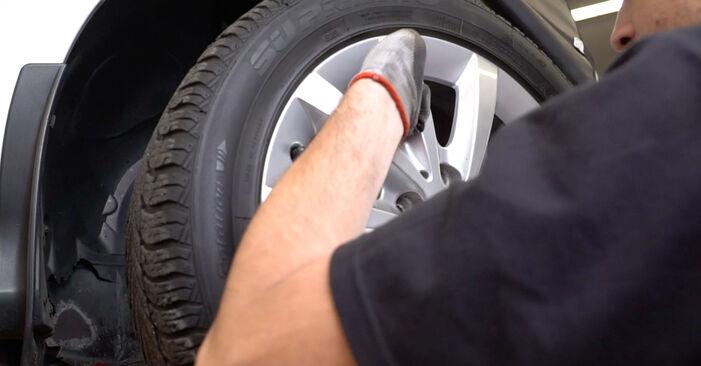 Wie schwer ist es, selbst zu reparieren: Stoßdämpfer Mercedes W245 B 180 1.7 (245.232) 2010 Tausch - Downloaden Sie sich illustrierte Anleitungen