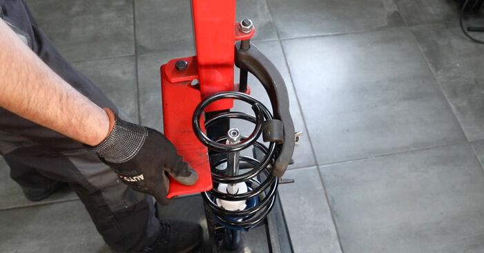 Austauschen Anleitung Stoßdämpfer am Ford Fiesta Mk5 2001 1.4 TDCi selbst