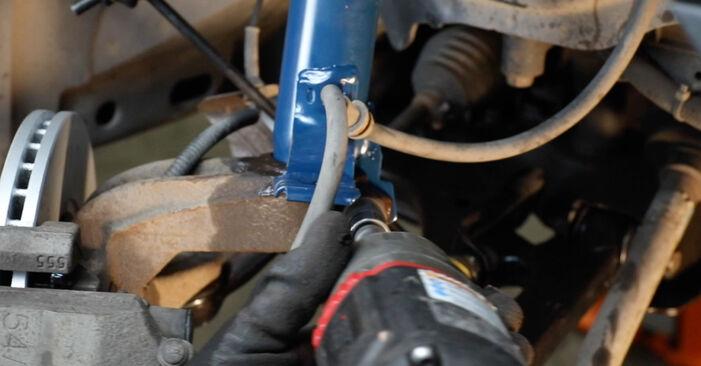 Stoßdämpfer am FORD Fiesta Mk5 Schrägheck (JH1, JD1, JH3, JD3) 1.6 TDCi 2006 wechseln – Laden Sie sich PDF-Handbücher und Videoanleitungen herunter