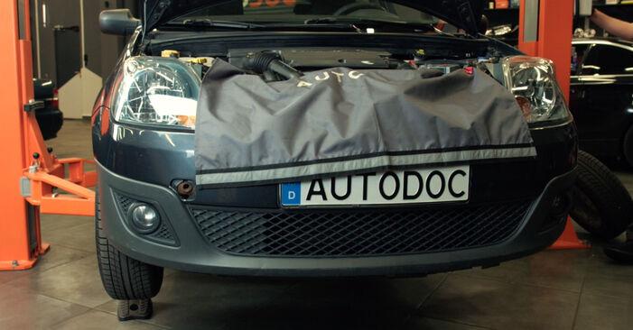 Wie schwer ist es, selbst zu reparieren: Stoßdämpfer Ford Fiesta Mk5 1.6 16V 2007 Tausch - Downloaden Sie sich illustrierte Anleitungen