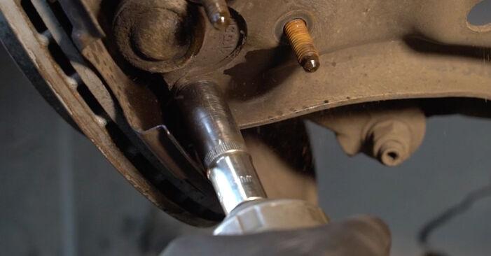 Wie schwer ist es, selbst zu reparieren: Stoßdämpfer Audi A3 8pa 1.4 TFSI 2009 Tausch - Downloaden Sie sich illustrierte Anleitungen