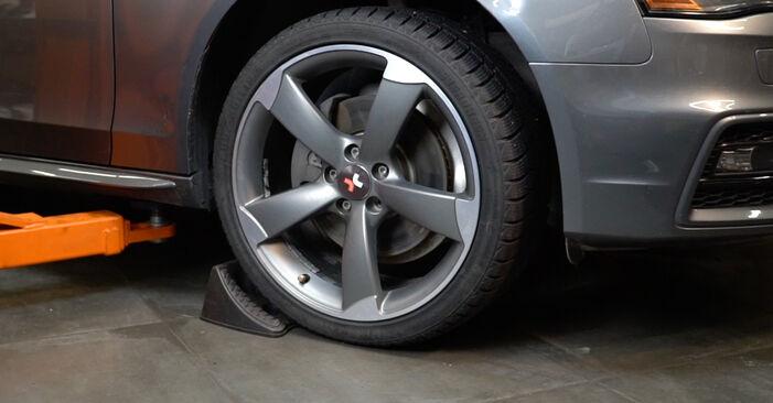Jak trudno jest to zrobić samemu: wymień Amortyzator w Audi A4 B8 Sedan 1.8 TFSI 2013 - pobierz ilustrowany przewodnik