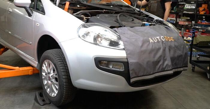 Sostituendo Ammortizzatori su Fiat Punto 199 2018 1.3 D Multijet da solo