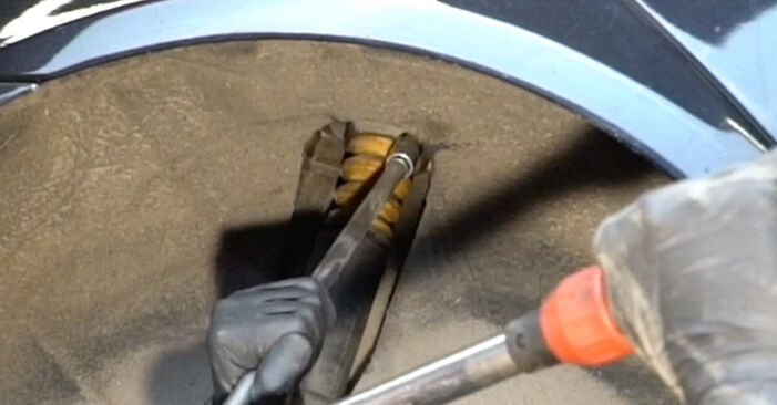 How to remove SKODA OCTAVIA 2.0 TDI 4x4 2008 Shock Absorber - online easy-to-follow instructions