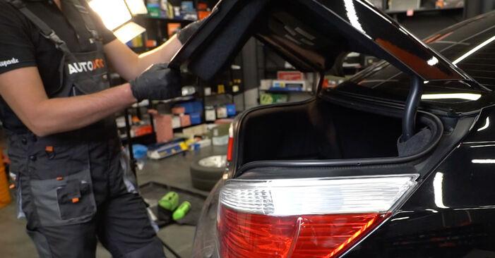 Kako zamenjati Blazilnik na BMW E60 2001 - brezplačni PDF in video priročniki
