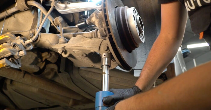 Replacing Shock Absorber on BMW E60 2001 530d 3.0 by yourself