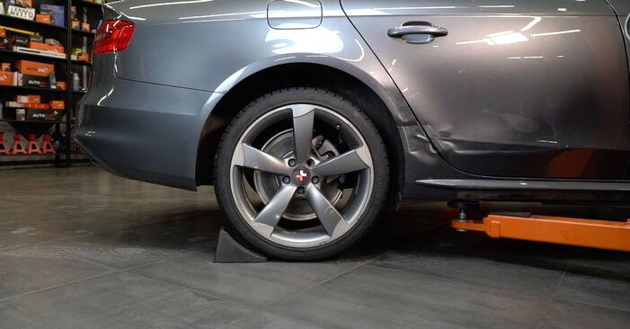 Wie Stoßdämpfer Audi A4 B8 Limousine 2.0 TDI 2007 tauschen - Kostenlose PDF- und Videoanleitungen