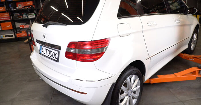 How to replace Shock Absorber on MERCEDES-BENZ B-Class (W245) 2009: download PDF manuals and video instructions