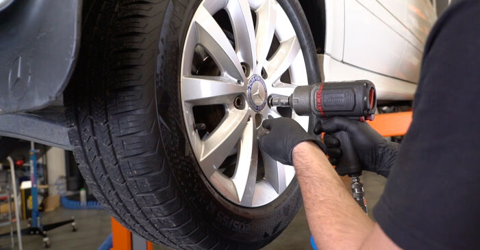 Changing of Shock Absorber on Mercedes W245 2012 won't be an issue if you follow this illustrated step-by-step guide