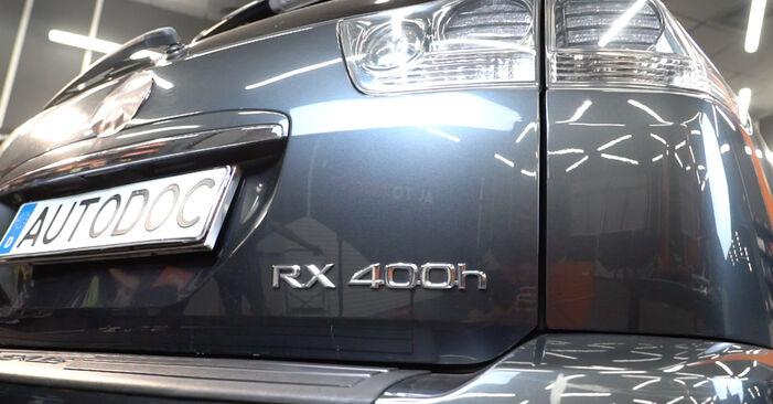 Lexus RX XU30 3.0 2005 Shock Absorber replacement: free workshop manuals