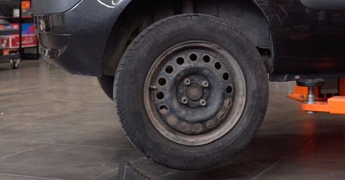 Wie schwer ist es, selbst zu reparieren: Stoßdämpfer Renault Clio 2 1.6 16V 2004 Tausch - Downloaden Sie sich illustrierte Anleitungen