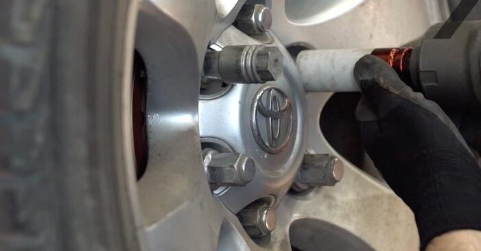 Tidsforbruk: Bytte av Støtdemper på Toyota Prado J120 2010 – informativ PDF-veiledning