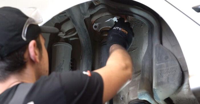 Ako dlho trvá výmena: Tlmič pruzenia na aute Skoda Fabia 6y5 2007 – informačný PDF návod