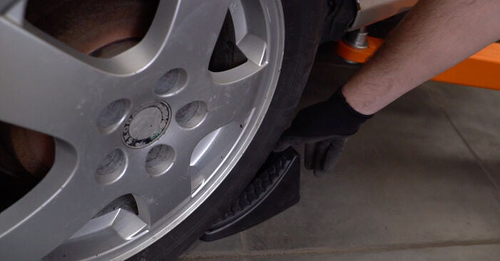 How to remove SKODA FABIA 1.4 TDI 2003 Shock Absorber - online easy-to-follow instructions