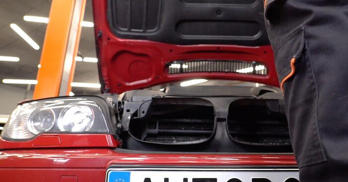Kā nomainīt Salona filtrs BMW 3 Convertible (E46) 1998 - bezmaksas PDF un video rokasgrāmatas