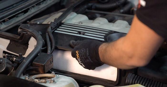 BMW 3 SERIES 330d 3.0 2002 Levegőszűrő eltávolítás - online könnyen követhető utasítások