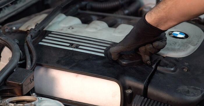 Levegőszűrő BMW 3 Touring (E46) 2003 csere - töltsön le PDF útmutatókat és utasításokat tartalmazó videókat