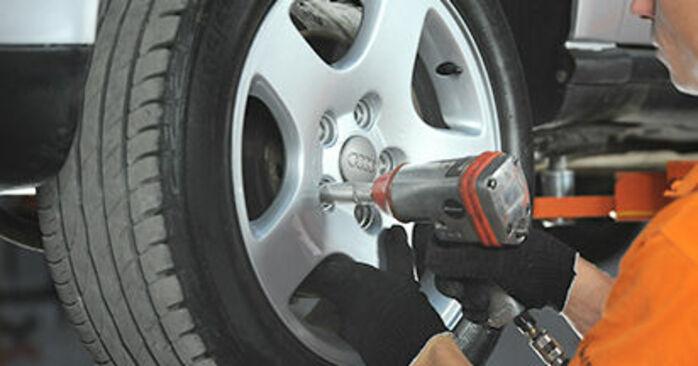 Cómo cambiar Discos de Freno en un Audi A4 B5 1994 - Manuales en PDF y en video gratuitos