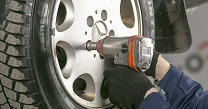 How to change Brake Pads on Mercedes W202 1993 - free PDF and video manuals