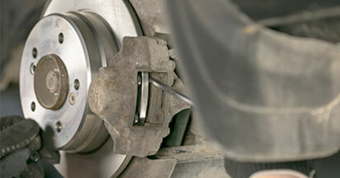 How hard is it to do yourself: Brake Pads replacement on Mercedes W202 C 250 D 2.5 (202.125) 1999 - download illustrated guide