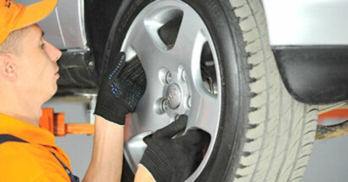 Wie Domlager AUDI A4 Limousine (8D2, B5) 1.9 TDI 1995 austauschen - Schrittweise Handbücher und Videoanleitungen
