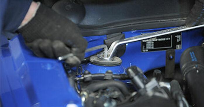 Sostituire Supporto Ammortizzatore su VW Lupo (6X1, 6E1) 1.4 2004 non è più un problema con il nostro tutorial passo-passo