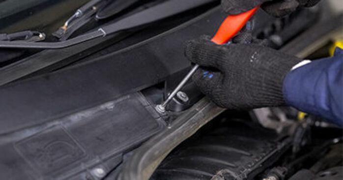 Hoe CITROËN C3 I Hatchback (FC_, FN_) 1.4 HDi 2003 Interieurfilter vervangen – stapsgewijze handleidingen en videogidsen