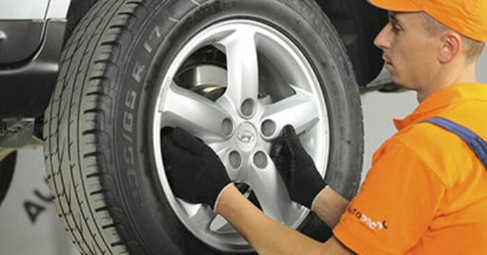 How to replace HYUNDAI SANTA FÉ II (CM) 2.2 CRDi 4x4 2006 Brake Discs - step-by-step manuals and video guides