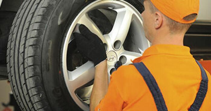 Zalecenia krok po kroku dotyczące samodzielnej wymiany Hyundai Santa Fe cm 2010 2.2 CRDi GLS Klocki Hamulcowe