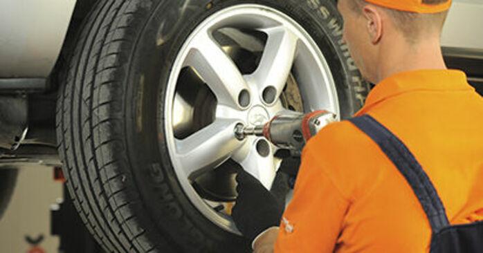 Wymiana Klocki Hamulcowe Hyundai Santa Fe cm 2005 - darmowe instrukcje PDF i wideo