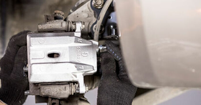 DIY replacement of Brake Calipers on TOYOTA PRIUS Hatchback (NHW20_) 1.5 (NHW2_) 2003 is not an issue anymore with our step-by-step tutorial