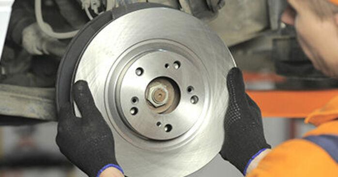Ako dlho trvá výmena: Brzdový kotouč na aute Honda CR-V II 2003 – informačný PDF návod