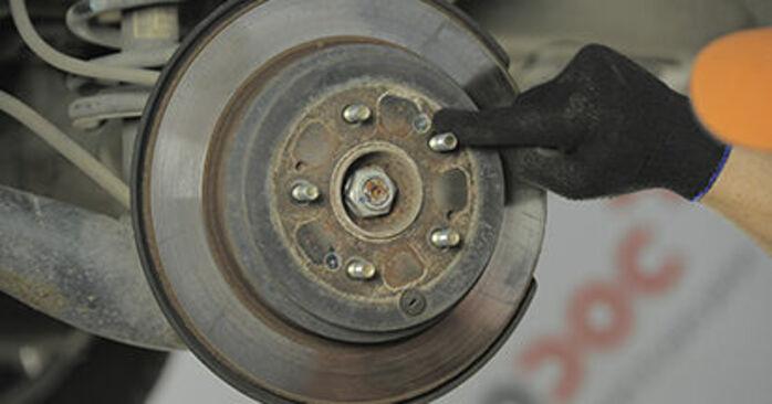 Wie man HONDA CR-V 2.4 2005 Bremsscheiben wechselt - Einfach nachzuvollziehende Tutorials online