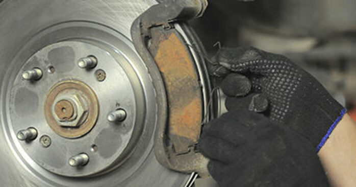 How to remove HONDA CR-V 2.4 2005 Brake Pads - online easy-to-follow instructions