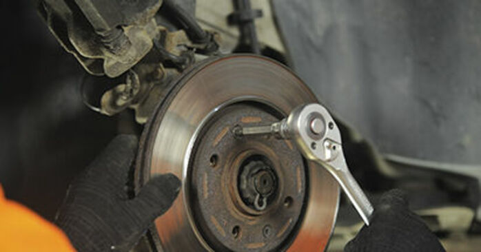 How to replace Brake Discs on PEUGEOT 406 Break (8E/F) 2001: download PDF manuals and video instructions