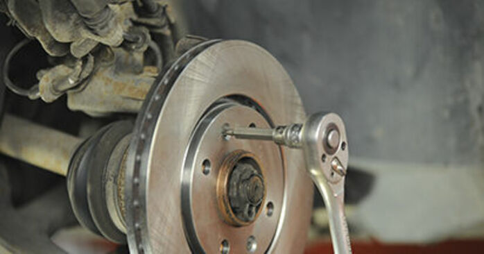 Changing of Brake Discs on Peugeot 406 Estate 2004 won't be an issue if you follow this illustrated step-by-step guide