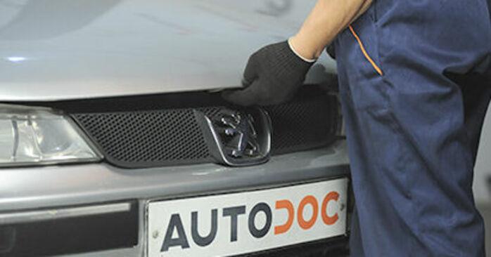 Recomendaciones paso a paso para la sustitución por su cuenta Peugeot 406 Familiar 2000 2.2 Copelas Del Amortiguador