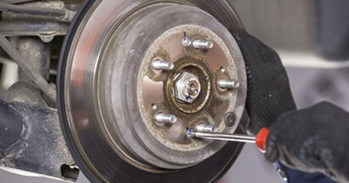 How to replace Brake Discs on HONDA CR-V III (RE) 2011: download PDF manuals and video instructions