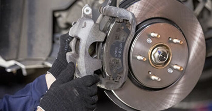 How to replace Brake Pads on HONDA CR-V III (RE) 2011: download PDF manuals and video instructions
