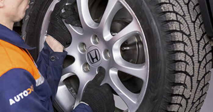 How to replace HONDA CR-V III (RE) 2.2 i-CTDi 4WD (RE6) 2007 Wheel Bearing - step-by-step manuals and video guides